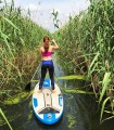 Stand up paddle - paddles on a surfboard on Snagov Lake or in the Neajlov delta