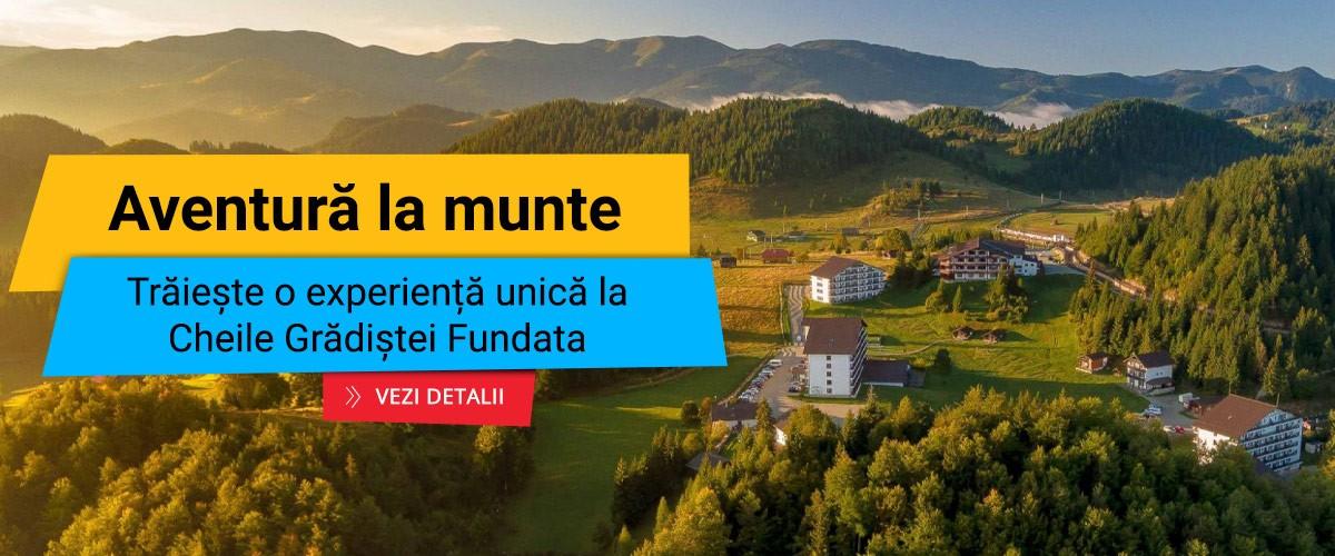 Aventura la munte - experienta unica la Cheile Gradistei Fundata
